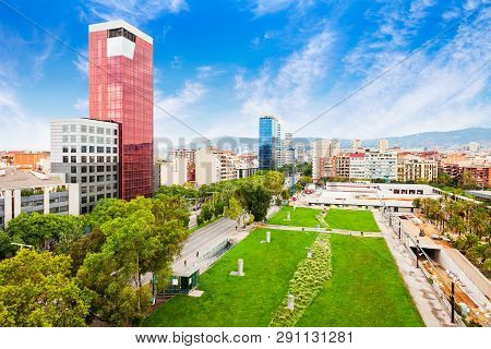 Barcelona Aerial Panoramic View Barcelona