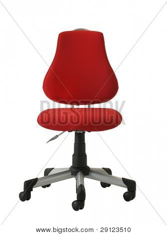 cutout red chair
