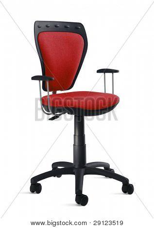 cutout red armchair