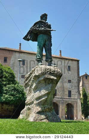 Partisanen-Denkmal. Parma. Emilia-Romagna. Italien.