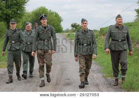 Estonian SS legion. WW2 reenacting