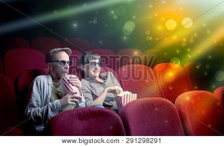 Fanciful couple watching miraculous part