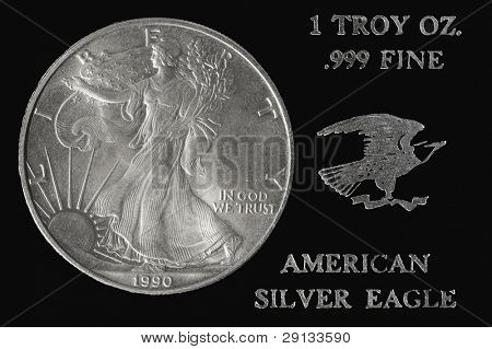 American silver dollar coin.Special edition