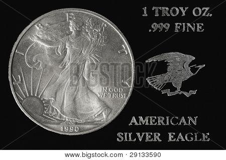 American silver dollar coin.Special edition