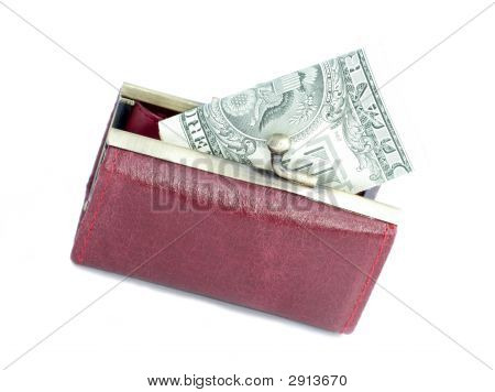 Money In A Red Purse