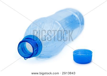 Empty Bottle And Water Drop