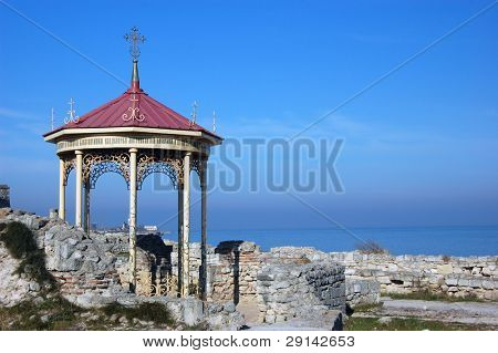 Ruins of ancient greek colony Khersones.Place King Vladimir baptising. Sevastopol,Crimea