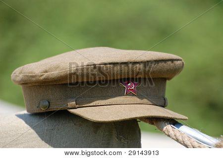 Soviet military uniform hat. Time of WW2