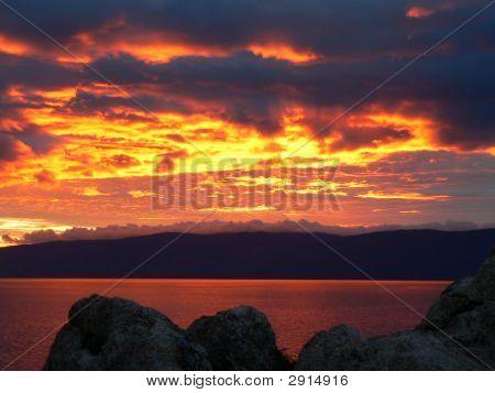 Sunset On The Baikal