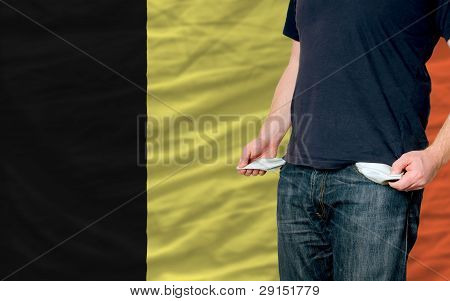 Recession Impact On Young Man And Society In Belgium