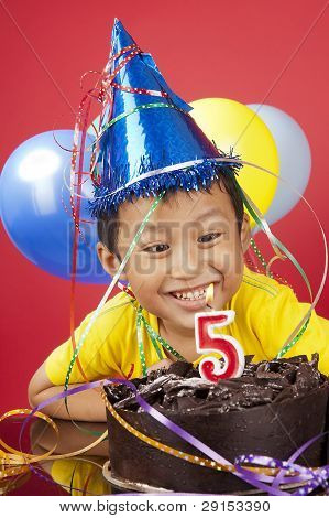 Boy Celebrating Birthday