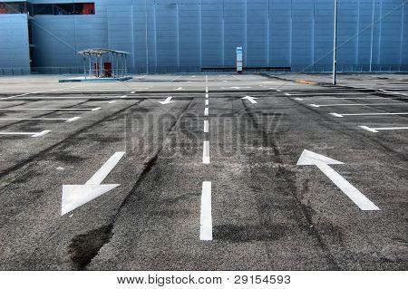 HDR. Huge empty parking in Kiev,Ukraine