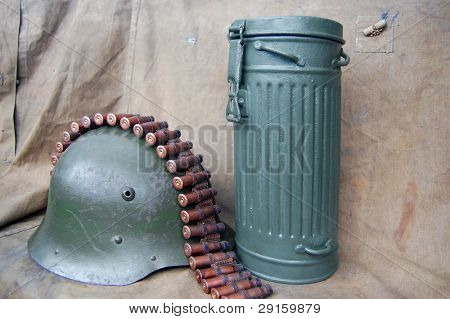 German at the WW2. German canister for gas mask.