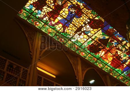 Stained Glass Ceiling Panel. Khan Murjan, Dubai (2)