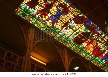 Stained Glass Ceiling Panel. Khan Murjan, Dubai (2)