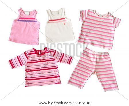 Baby Girl Clothes Isolated