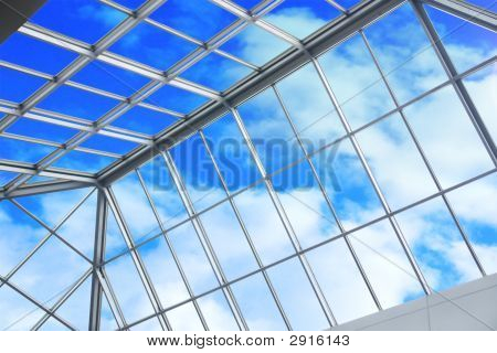 Blue Sky Through Ceiling