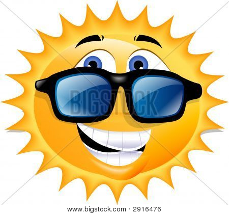 Happy Stylish Sun Wearing  Glasses