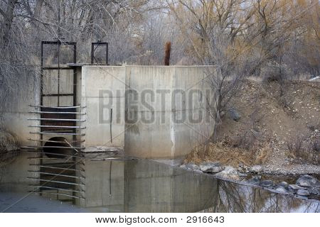 Diversion Dam And Inlet To Irrigation Ditch