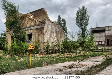 Lost city.Near Chernobyl area.Kiev region,Ukraine.HDR