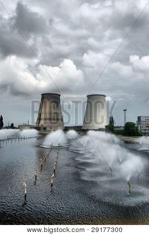 HDR.Power plant. Kiev, Malorussia (Ukraine)