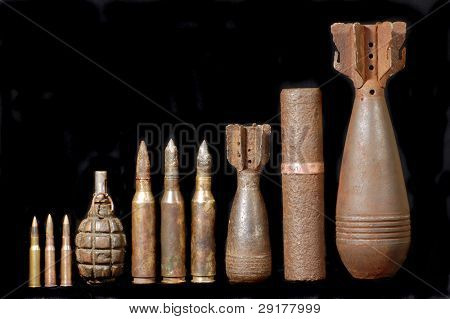 Military archeology.World War II remains.Excavated in Ukraine with metal-detector