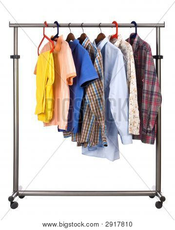The Men'S Wear Hangs On A Hanger