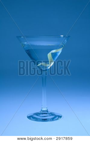 Martini With Lemon Twist Shifted Blue