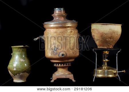 Archeology as hobby.Old Russian home items