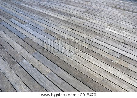 Plank Floor Perspective Docks