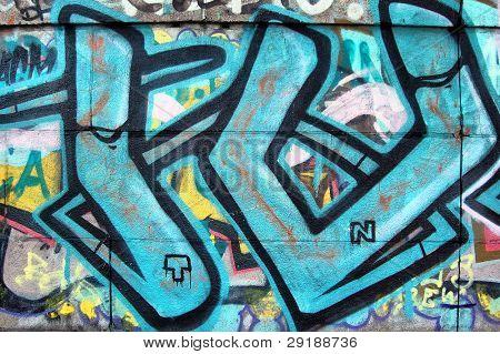 KIEV, UKRAINE - AUG 1: Graffiti.Remains after graffiti festival Orange Infection in Kiev,Ukraine in August 1,2008
