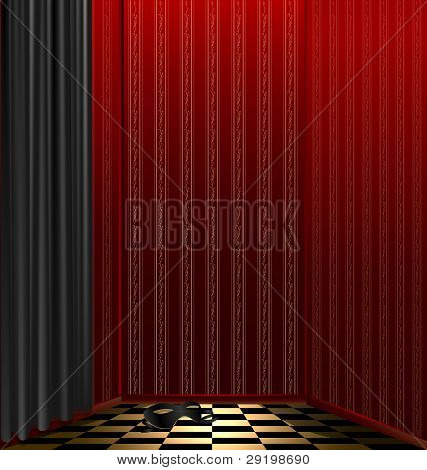 red room and black mask