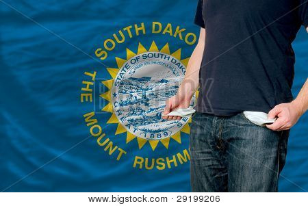 Recession Impact On Young Man And Society In American State Of South Dakota