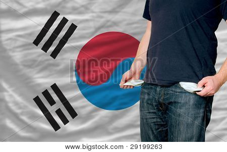 Recession Impact On Young Man And Society In South Korea