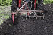 Tractor Working On The Farm, A Modern Agricultural Transport, A Farmer Working In The Field, Fertile poster