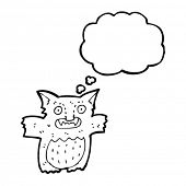 picture of gremlins  - gremlin with thought bubble cartoon - JPG