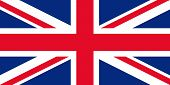 Great Britain Flag. Vector. United Kingdom Uk Official State Sign. National Flag Of England With Uni poster