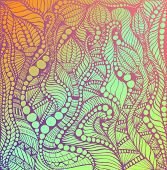 Psychedelic Decorative Ornaments Lilac Color, Gradient Colorful Colors Background. Fantasy Doodle Pa poster