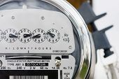 image of electricity meter  - Close - JPG