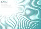 Abstract Sea Waves Pattern Circle Of Cover Presentation Background. You Can Use For Ad, Poster, Cove poster