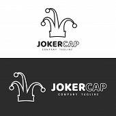 Logo Template. Joker Hat Logo Design. Icon poster