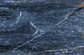 Dark Blue Slate Texture On Slate-phyllite Metamorphic Rock Transformation Background, Real Slate Sto poster
