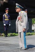 KIEV,UKRAINE- JUNE 21:  Honor Guard and veteran. Lost soldiers of WW2 funerals. June 21,2008. Kiev,U