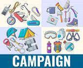 Campaign Concept Banner. Cartoon Banner Of Campaign Concept For Web, Giftcard And Postcard poster
