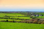 Scenic Cornish Fields Under Evening Sky, Cornwall, England poster