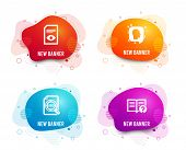 Liquid Badges. Set Of Head, Seo File And View Document Icons. Help Sign. Profile Messages, Search Do poster