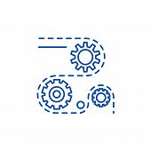 Manufacturing Processes Line Icon Concept. Manufacturing Processes Flat  Vector Symbol, Sign, Outlin poster