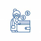 Pension Contribution Line Icon Concept. Pension Contribution Flat  Vector Symbol, Sign, Outline Illu poster