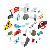 Labor Icons Set. Isometric Set Of 25 Labor Icons For Web Isolated On White Background poster