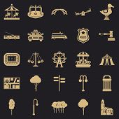Urban Recreation Park Icons Set. Simple Set Of 25 Urban Recreation Park Icons For Web For Any Design poster